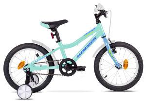 """Rower dziecięcy Kross Mini 4.0 16"""" turkusowy niebieski zielony"""