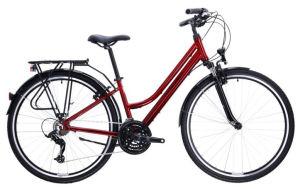 "Rower Kross Trans 1.0 SR M 28"" damski rubinowy czarny"