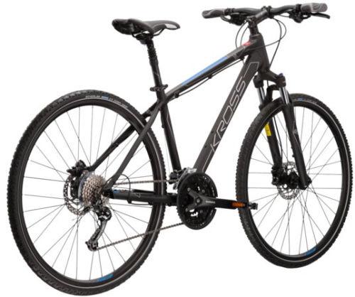 """Rower Kross Evado 6.0 SR M 28"""" męski czarny niebieski"""