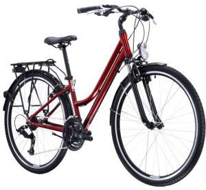 """Rower Kross Trans 1.0 SR L 28"""" damski rubinowy czarny połysk"""
