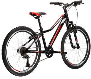 """Rower Kross Hexagon JR 1.0 24"""" czarny czerwony srebrny"""