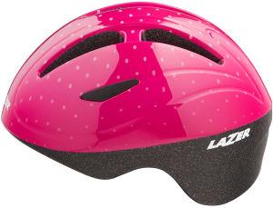 Kask rowerowy dziecięcy Lazer Bob+ (46-52cm) Pink Dots