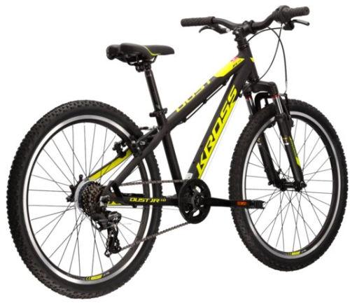 """Rower młodzieżowy Kross Dust JR 1.0 S 24"""" czarny limonkowy"""