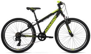 """Rower młodzieżowy Kross Dust JR 1.0 S 24"""" czarno-limonkowy"""