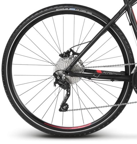 """Rower Kross Evado 7.0 M 28"""" męski czarno-czerwony"""