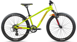 """Rower Orbea MX 24 XC 24"""" limonkowy czerwony"""
