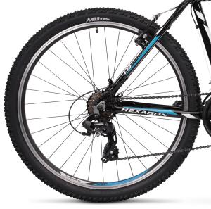 """Rower Kross Hexagon 1.0 XS 26"""" czarno-biało-niebieski"""