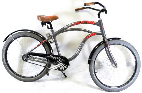 """Rower Kross Pepper M 26"""" grafitowo-czerwony"""