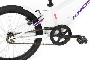 """Rower Kross Mini 5.0 20"""" biało-fioletowo-różówy"""