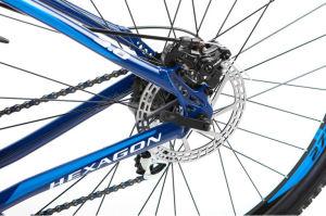 """Rower Kross Hexagon 3.0 L 27,5"""" granatowy niebieski biały"""