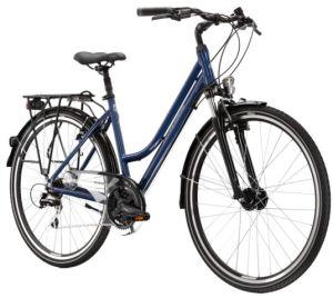 "Rower Kross Trans 3.0 M 28"" damski niebieski szary"