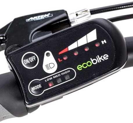 Rower elektryczny EcoBike City L Grey 26, bateria 10.4 Ah