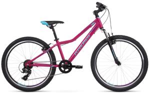 """Rower Kross Lea JR 1.0 24"""" różowo-niebiesko-fioletowy"""