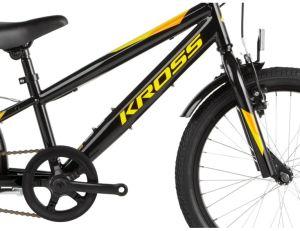 """Rower Kross Racer 5.0 20"""" czarno-żółto-pomarańczowy"""