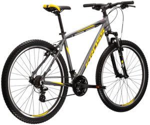 """Rower Kross Hexagon 2.0 M 27,5"""" grafitowy czarny żółty"""