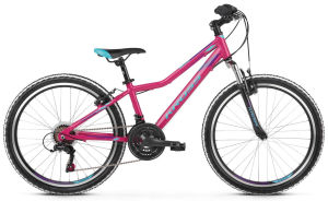 "Rower Kross Lea Junior 1.0 24"" różowo-niebiesko-fioletowy 2019"