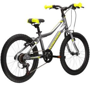 """Rower Kross Hexagon Mini 1.0 SR 20"""" grafitowy limonkowy srebrny"""