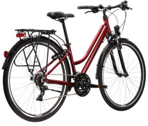 """Rower Kross Trans 1.0 M 28"""" damski rubinowy czarny"""