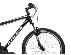 """Rower Kross Hexagon XS 26"""" czarny biały grafitowy"""