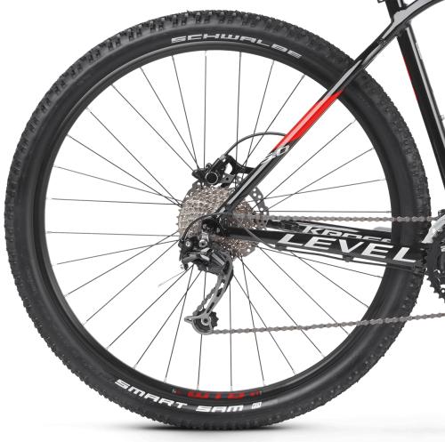 """Rower Kross Level 5.0 M 29"""" czarno-czerwono-srebrny"""