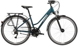 """Rower Kross Trans 4.0 L 28"""" damski turkusowy biały"""