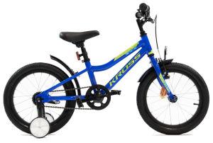 """Rower dziecięcy Kross Racer 4.0 16"""" niebiesko-limonkowy"""