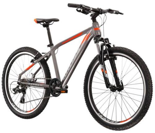 """Rower Kross Level JR 2.0 24"""" grafitowy pomarańczowy"""
