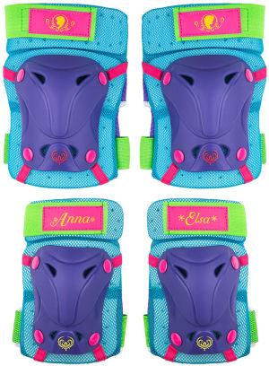 Ochraniacze skate dziecięce na kolana i łokcie Disney Frozen 2