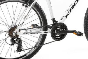 """Rower Kross Hexagon 1.0 L 26"""" biały czarny szary"""