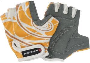 Rękawiczki rowerowe dziecięce Kross NC-1302-2010 rozmiar XS szaro-żółte
