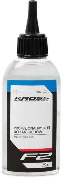 Profesjonalny olej do łańcuchów rowerowych Kross F2 mokre warunki 75 ml