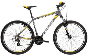 """Rower Kross Hexagon 2.0 XS 26"""" grafitowy srebrny żółty"""