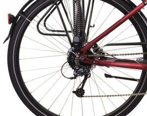 "Rower Kross Trans 5.0 L 28"" damski rubinowy czarny"