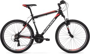 """Rower Kross Hexagon 1.0 S 26"""" czarny biały czerwony"""