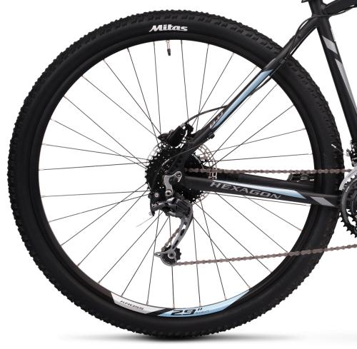 """Rower Kross Hexagon 8.0 M 29"""" czarno-grafitowo-stalowy"""