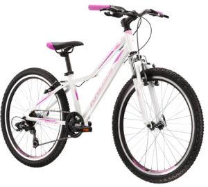 """Rower młodzieżowy Kross Lea JR 1.0 24"""" biały różowy fioletowy"""
