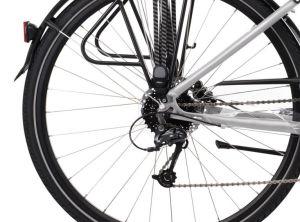 """Rower Kross Trans 5.0 M 28"""" damski perłowy czarny"""