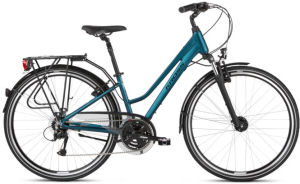 """Rower Kross Trans 4.0 L 28"""" damski turkusowy czarny"""