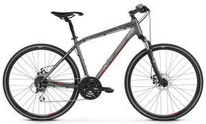 """Rower Kross Evado 4.0 L 28"""" męski grafitowy czerwony"""