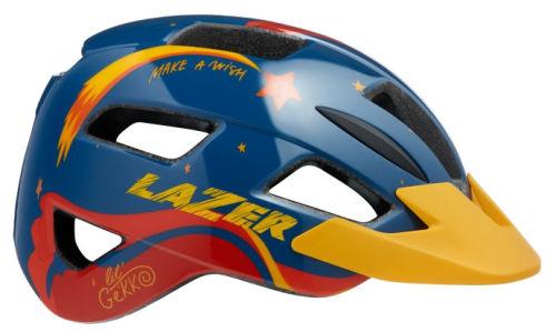 Kask rowerowy Lazer Lil'Gekko Star XS (46-50 cm) granatowo-żółty