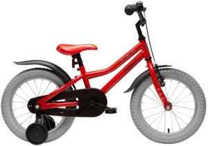 """Rower dziecięcy Maxim Bat Boy 16"""" czerwony czarny"""