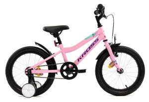 """Rower dziecięcy Kross Mini 3.0 16"""" różowy fioletowy turkusowy"""