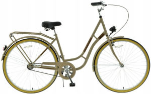 "Rower miejski Kands Laguna 28"" kremowy"