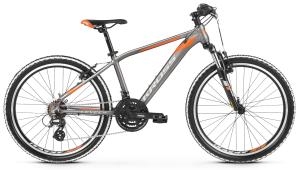 """Rower Kross Level Junior 2.0 24"""" grafitowo-pomarańczowy 2019"""