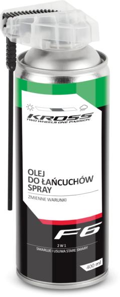 Olej w sprayu do łańcuchów Kross F6 na zmienne warunki