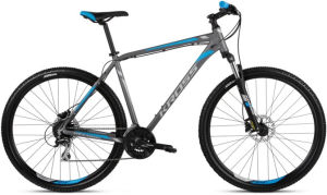 """Rower Kross Hexagon 5.0 M 29"""" grafitowy srebrny niebieski"""