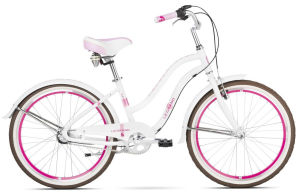 "Rower Le Grand Sanibel JR 24"" biało-różowy"