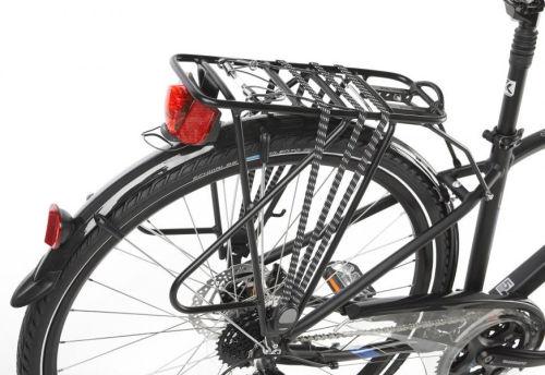 "Rower Kross Trans 7.0 M 28"" męski czarno-niebiesko-srebrny"