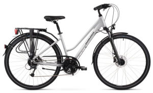 """Rower Kross Trans 5.0 L 28"""" damski perłowy czarny"""