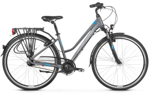 "Rower Kross Trans 6.0 L 28"" damski grafitowy niebieski srebrny"